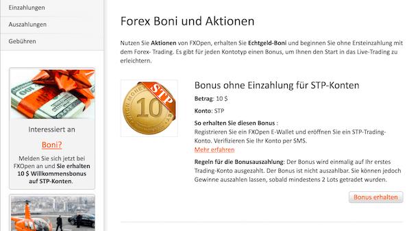 FXOpen Boni