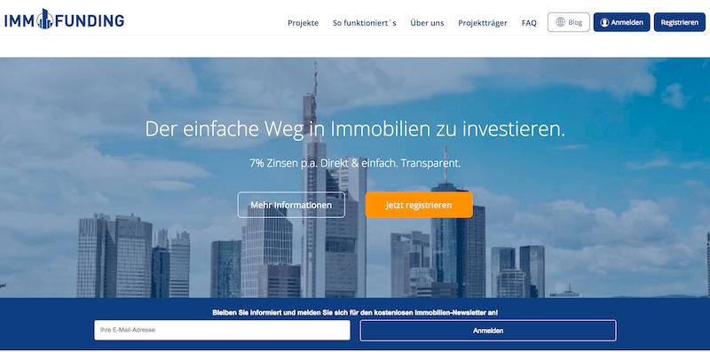 IMMOFUNDING Webseite
