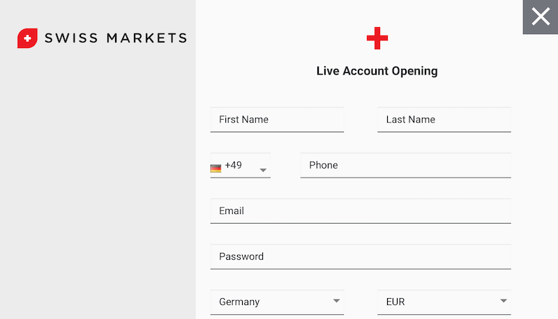 Swiss Markets Kontoeröffnung