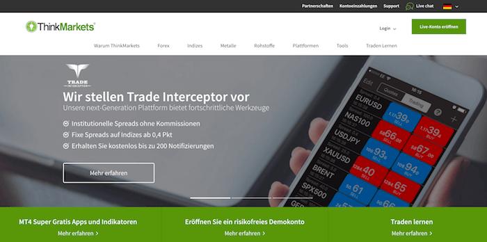 ThinkMarkets Erfahrungen von Aktiendepot.com