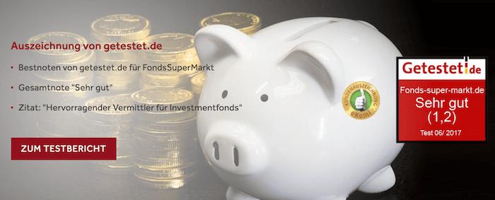 FondsSuperMarkt Auszeichnung
