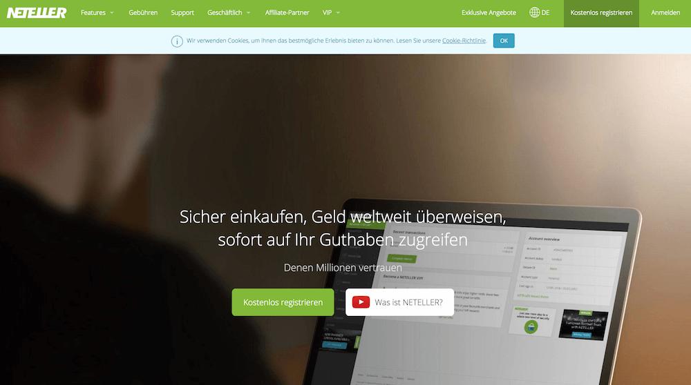 Neteller Online-Bezahlung