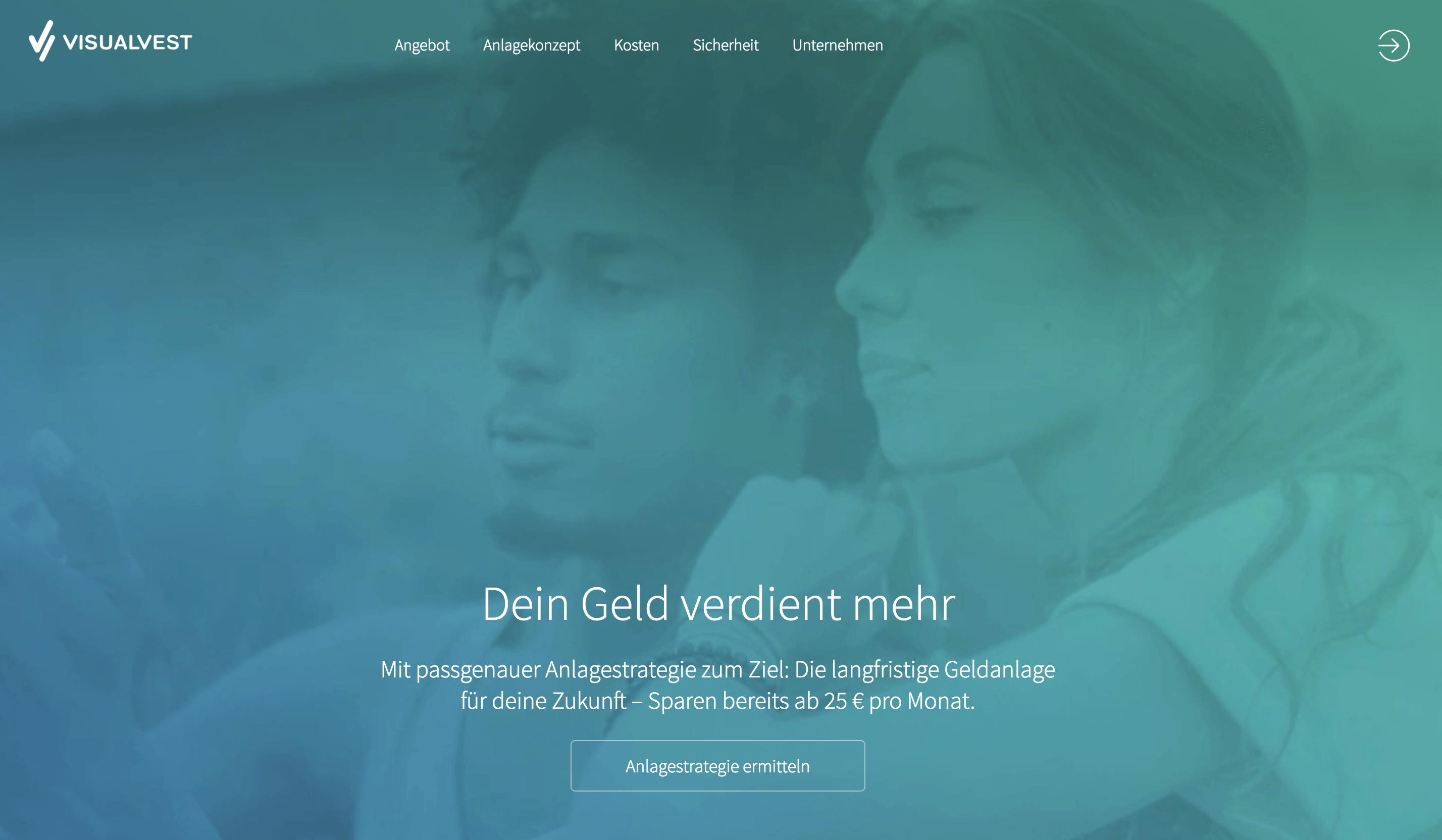 VisualVest Homepage