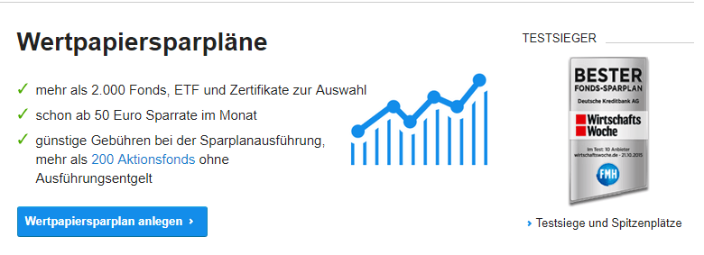 Generell können Anleger im DKB Wertpapierdepot über 2.000 Wertpapiere besparen.