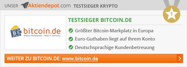 Krypto Börsen Vergleich von Aktiendepot.com