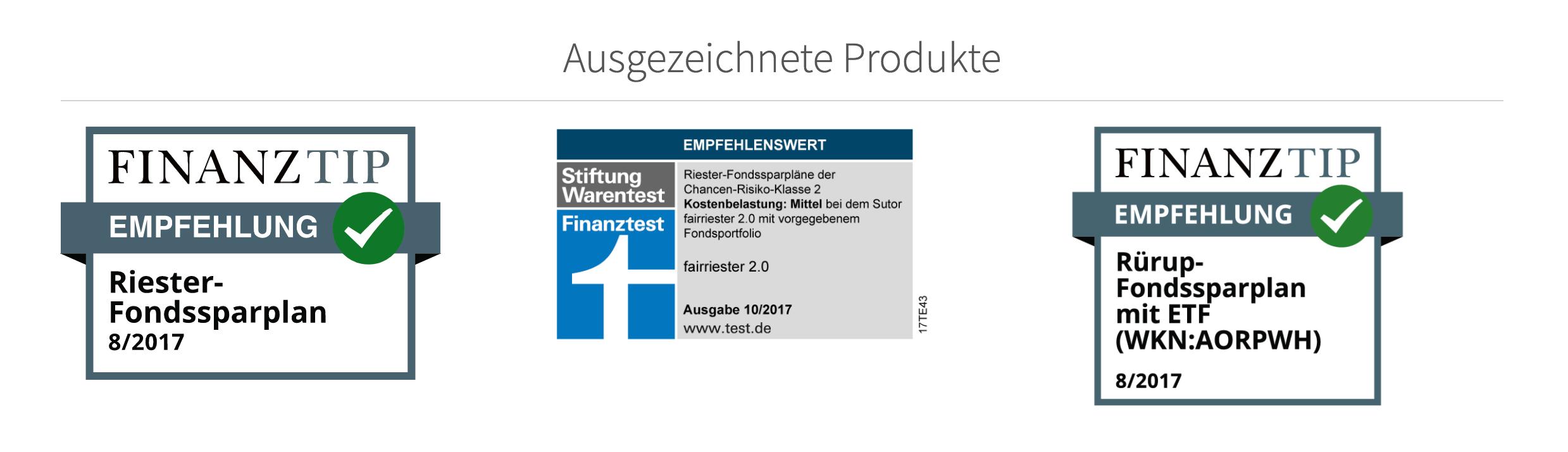 Fairr.de bietet Produkte, die bereits ausgezeichnet wurden