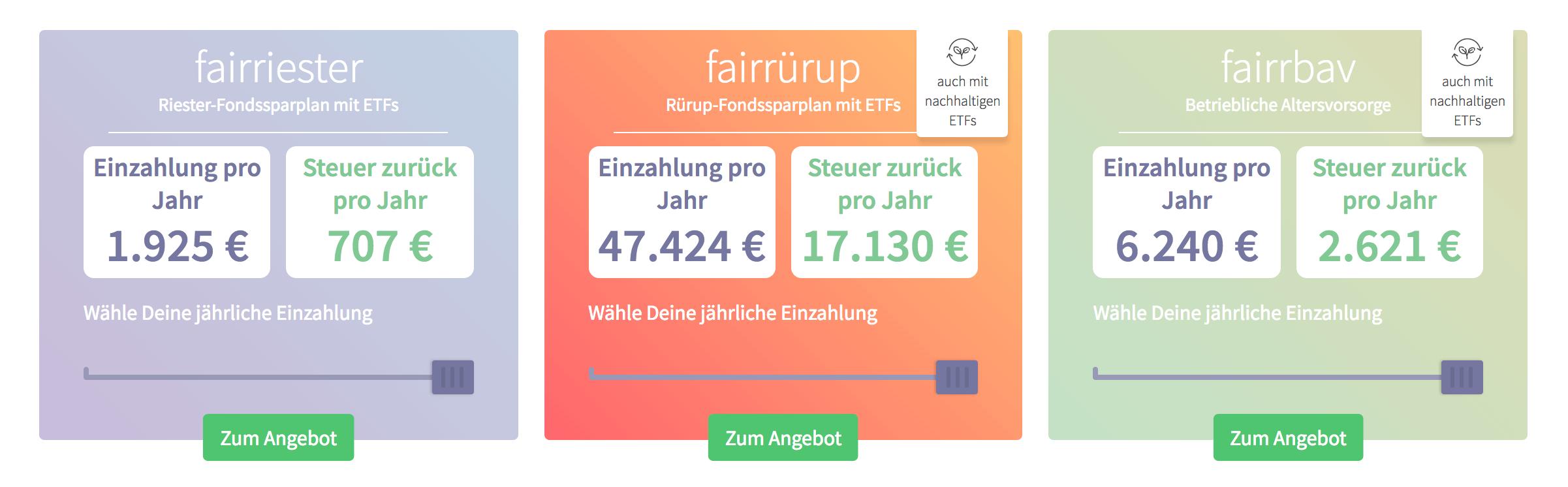 Fairr.de hält verschiedene Produkte bereit, darunter auch fairrbav