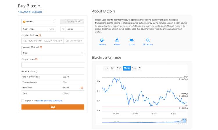 LiteBit.eu Kryptowährungen kaufen