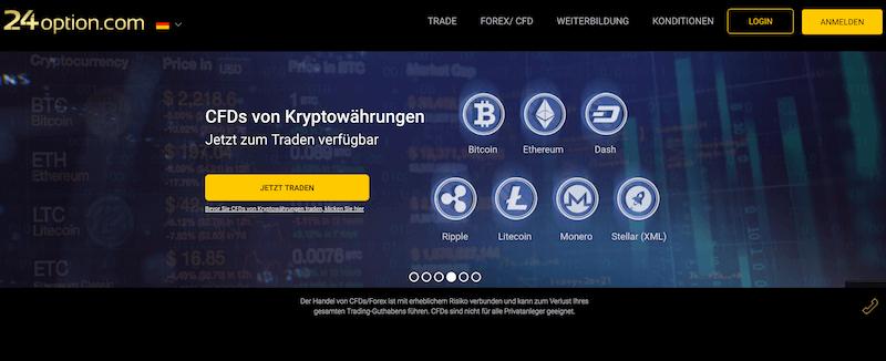 24option Krypto Erfahrungen von Aktiendepot.com