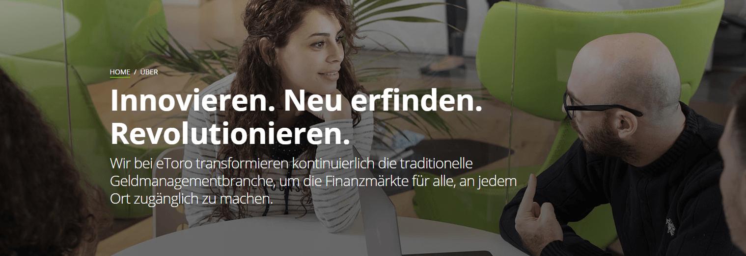 eToro ist eine moderne & innovative Social Trading Plattform