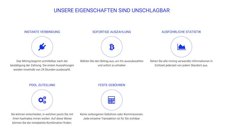 HashFlare Eigenschaften und Vorteile