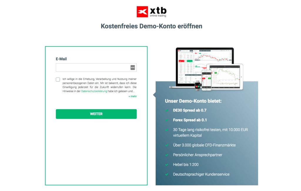 Mit dem XTB Demo-Konto können Trader ihre Handelsstragien testen
