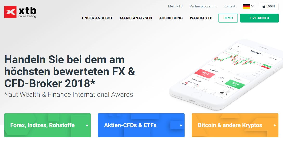 XTB erhielt bereits mehrfach Auszeichnungen