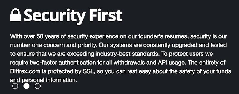 Sicherheit Bittrex