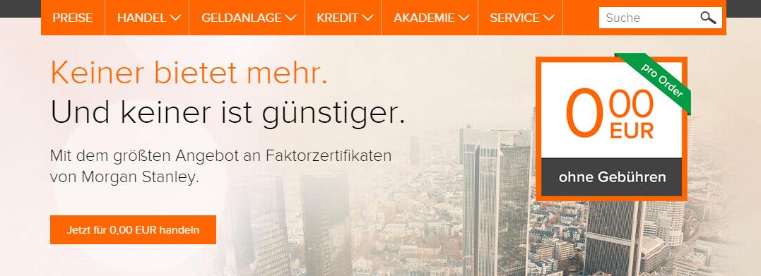 flatex faktorzertifikate kostenlos