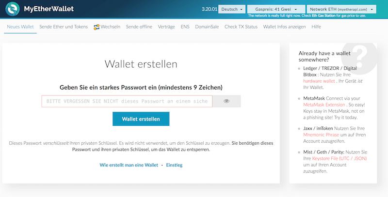 MyEtherWallet Erfahrungen von Aktiendepot.com