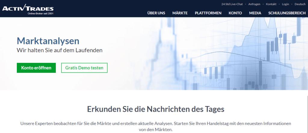 ActivTrades Marktanalysen