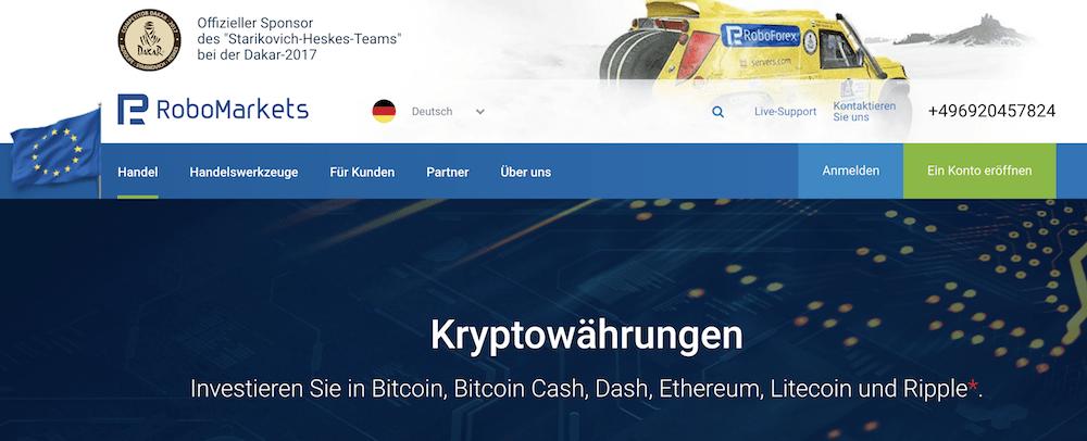 RoboMarkets Krypto Erfahrungen von Aktiendepot.com
