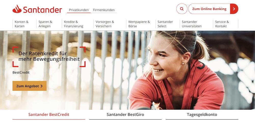 Santander Bank sina