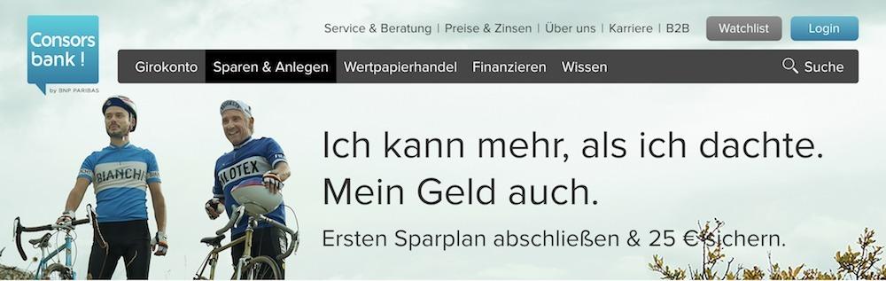 Consorsbank ETF Sparplan Konditionen