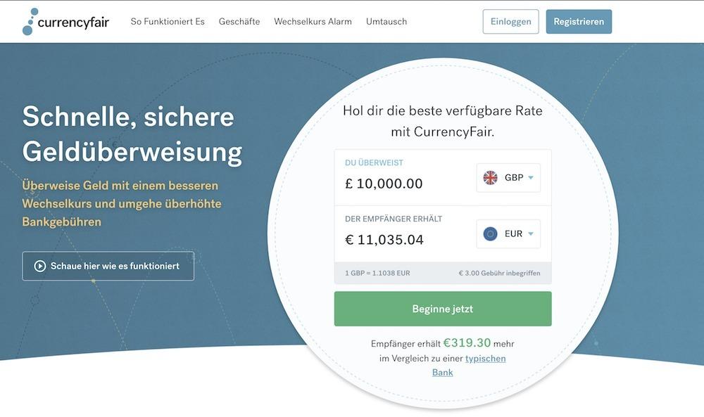 CurrencyFair Erfahrungen von Aktiendepot.com