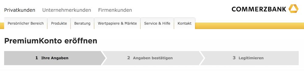 Commerzbank PremiumKonto eröffnen