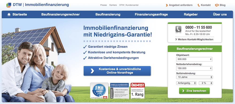 DTW Baufinanzierung Erfahrungen von Aktiendepot.com