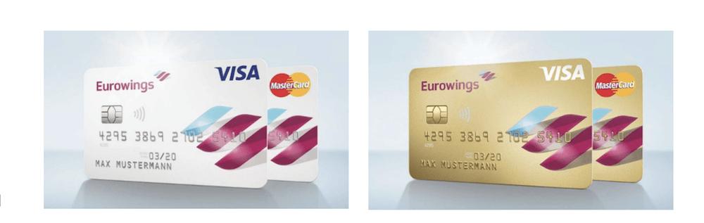Eurowings Kreditkarten Auswahl