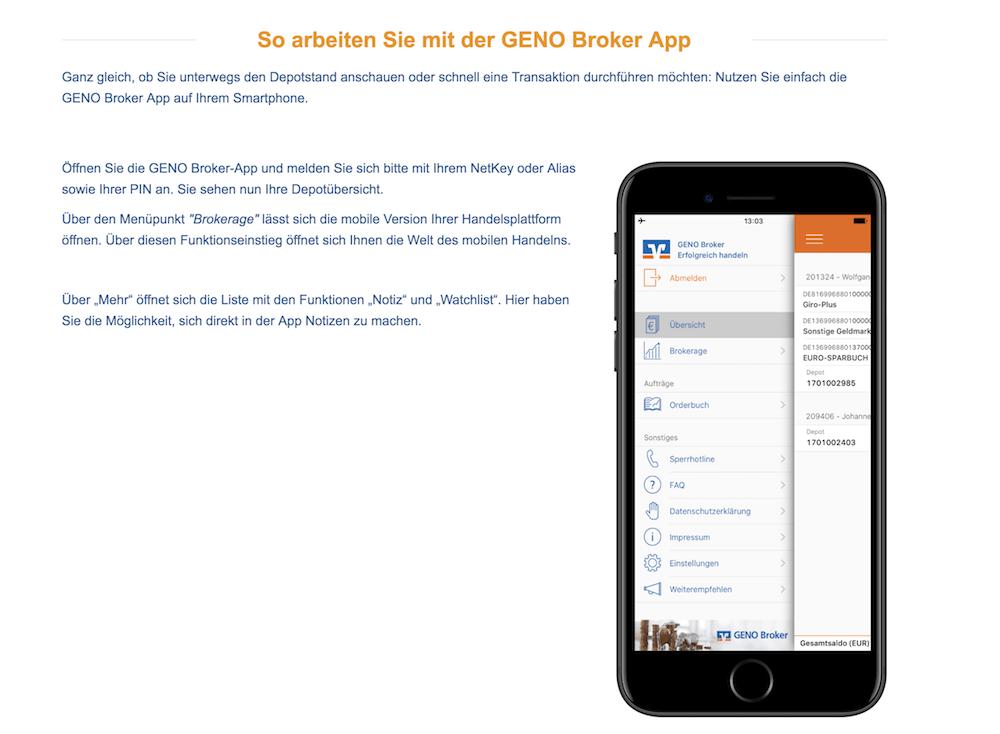 GENO Broker App