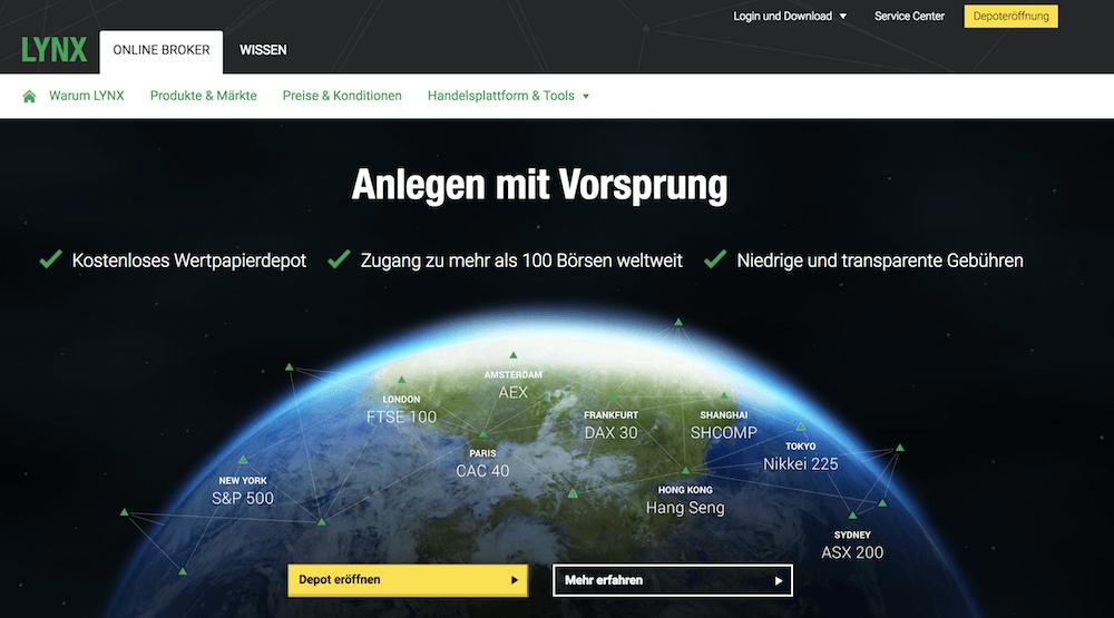 LYNX Testsieger Aktien App
