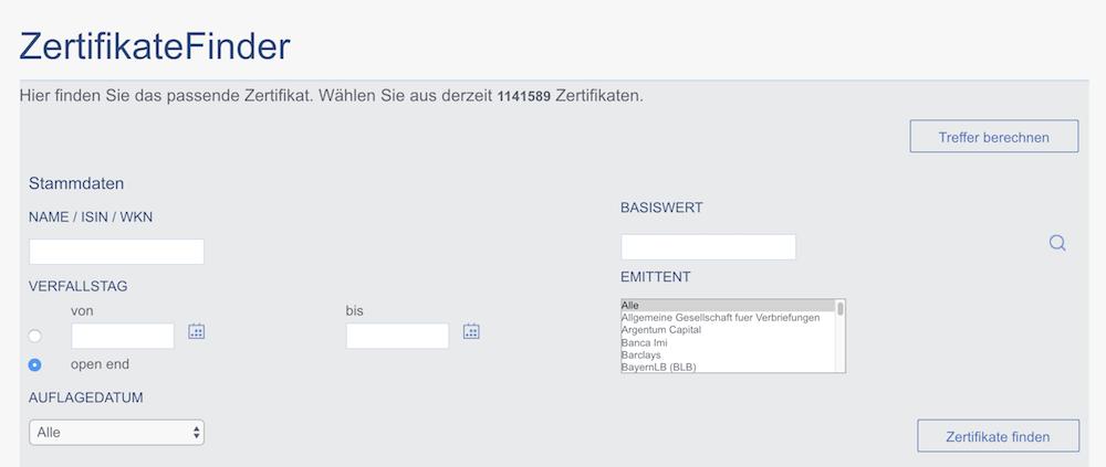 maxblue Zertifikate Finder