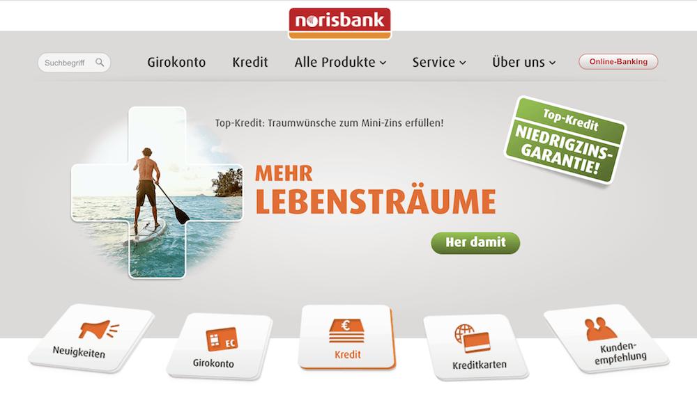 norisbank Kredit Testsiegers