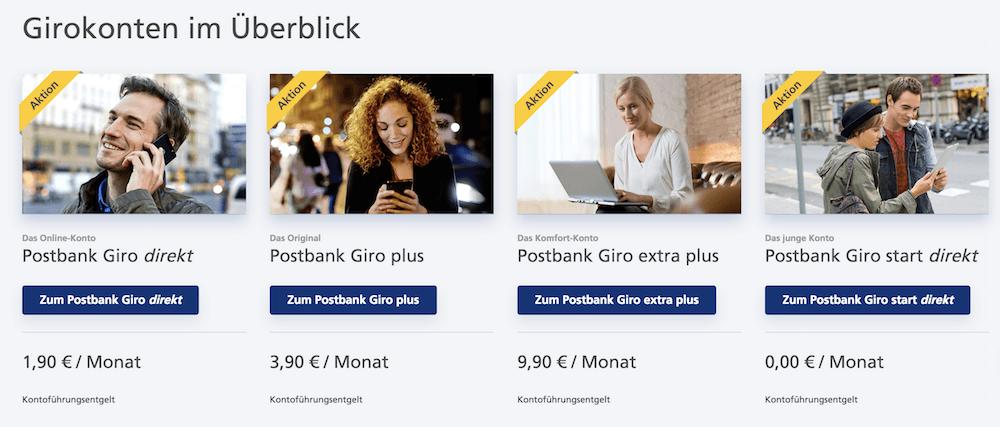 Postbank Konten