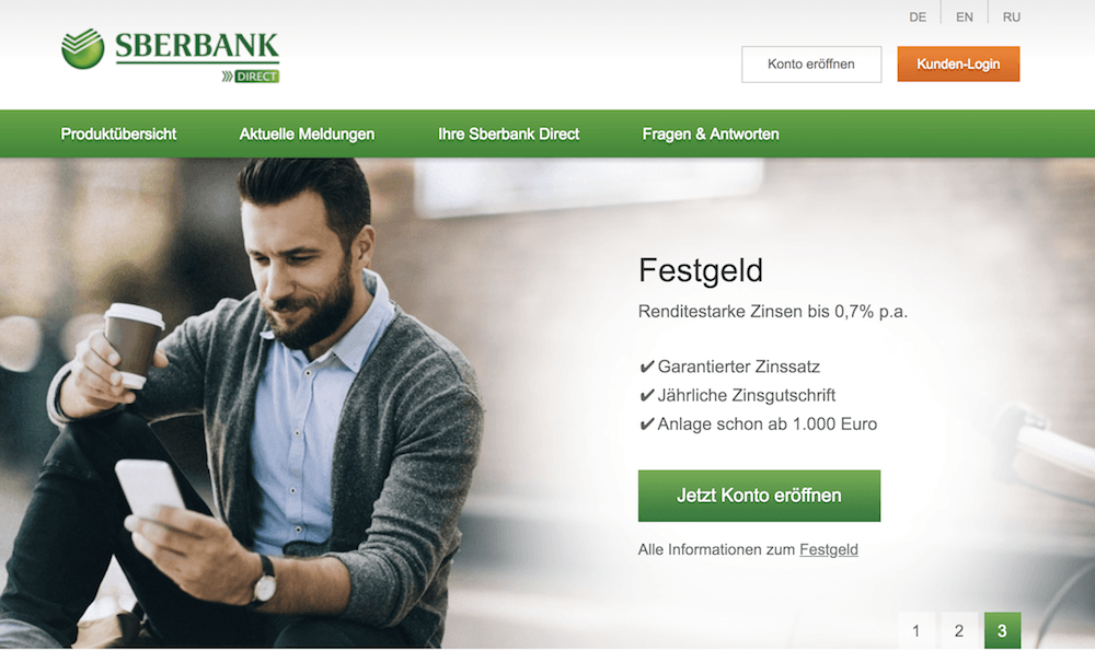 Sberbank Homepage
