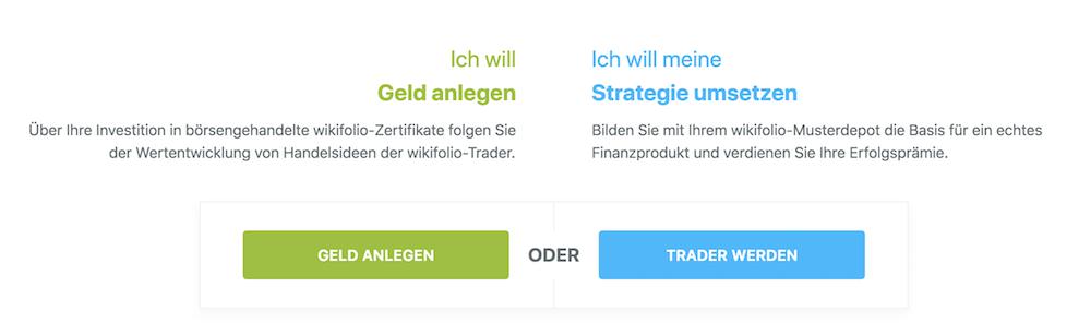 wikifolio Geldanlage und Trading