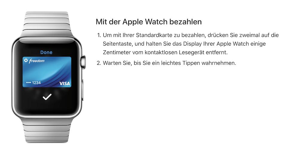 Nutzer des Bezahldienstes Apple Pay können auch mit der Smartwatch bezahlen