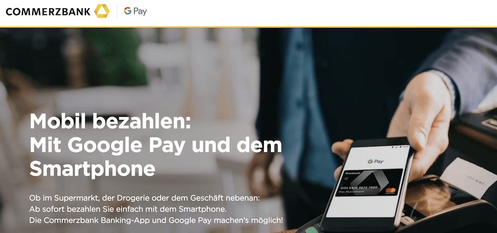 Commerzbank Google Pay