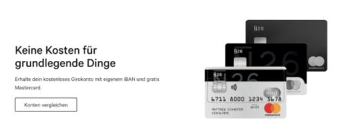 N26 Girokonto MasterCard