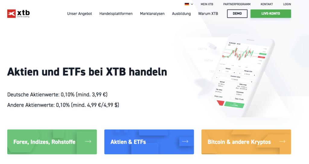 XTB Aktien Erfahrungen von Aktiendepot.com