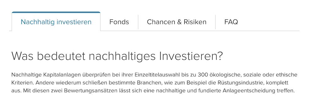 Consorsbank Nachhaltige Investment Erklärung
