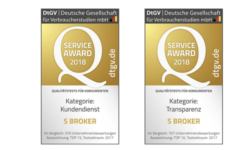 SBroker Auszeichnungen