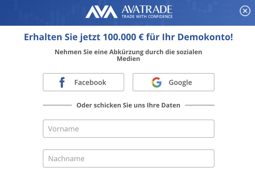 AvaTrade Demokonto