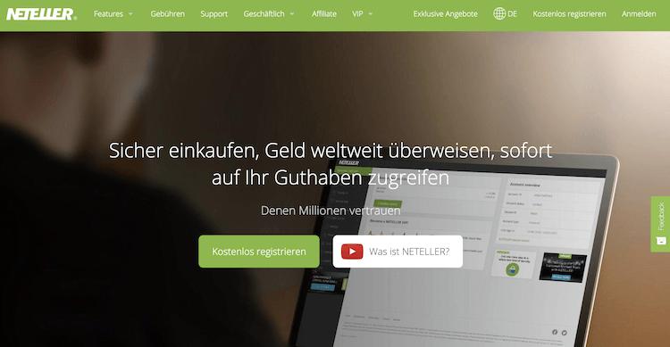 NETELLER Webseite