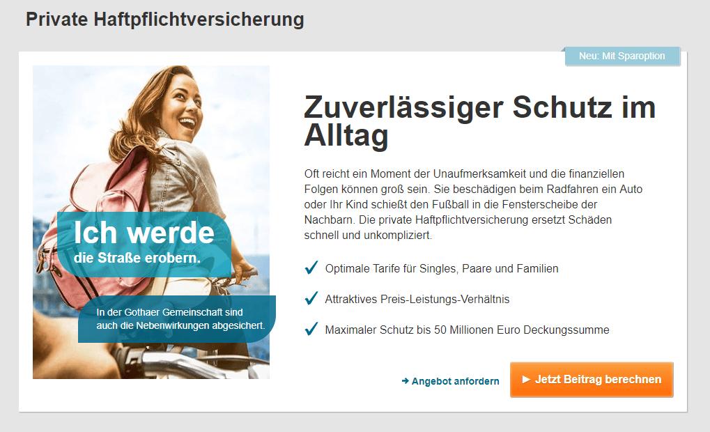Gothaer single haftpflichtversicherung