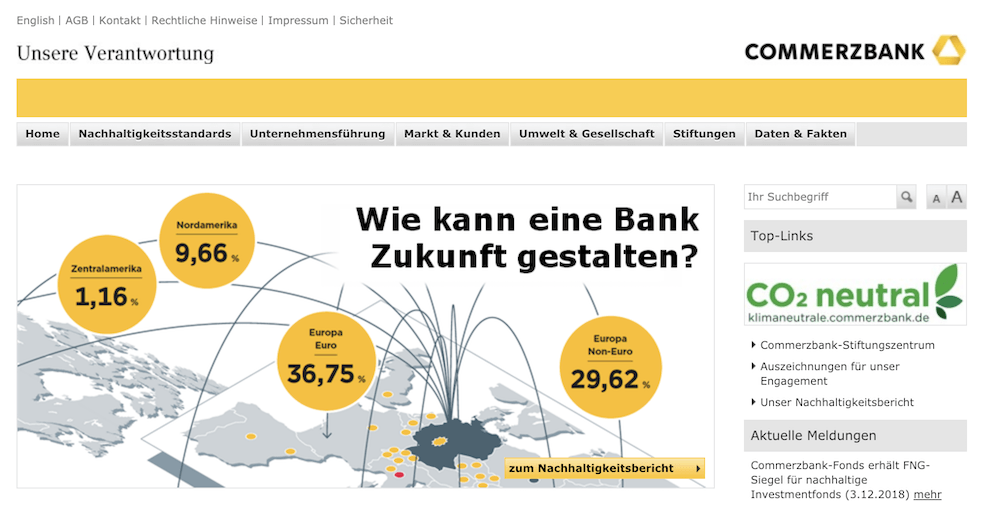 Commerzbank Nachhaltigkeit