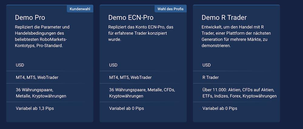 RoboMarkets ECN Demokonto