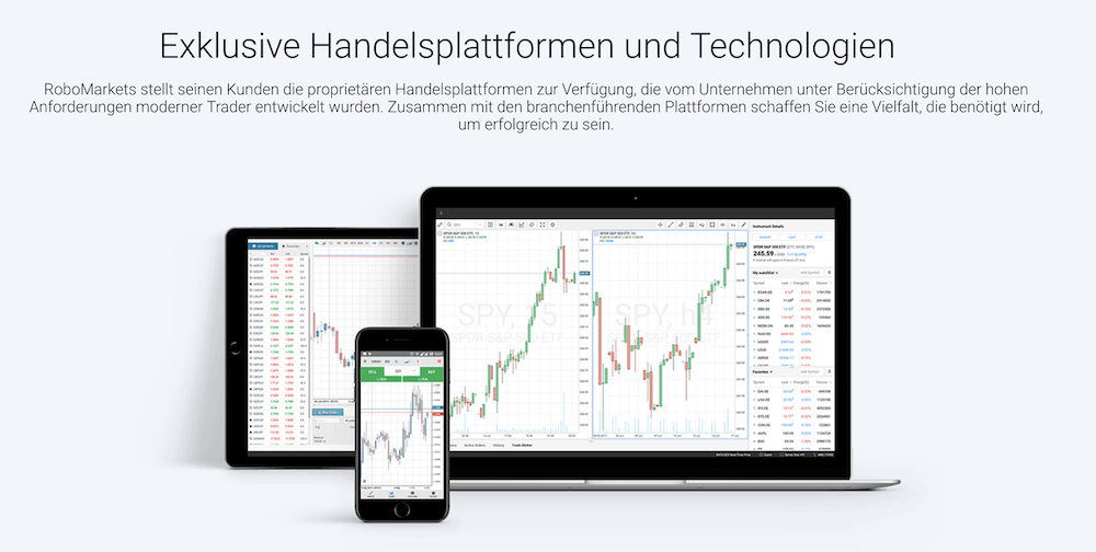 RoboMarkets mobiler Handel App