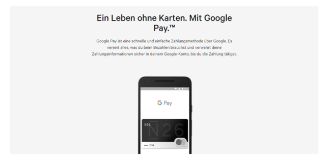 N26 GooglePay