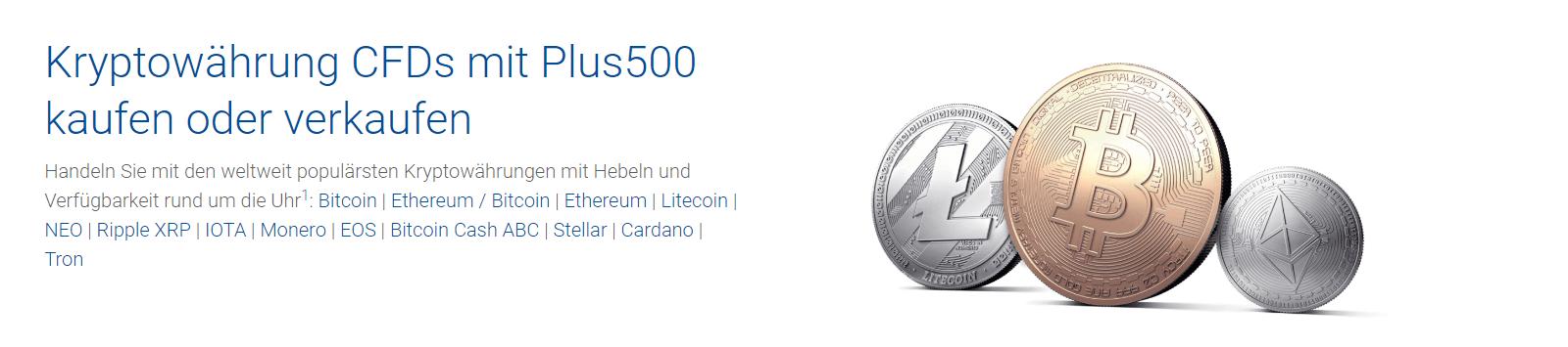 Plus500 Kryptowährungen handeln