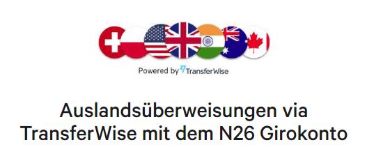N26 Auslandsüberweisungen